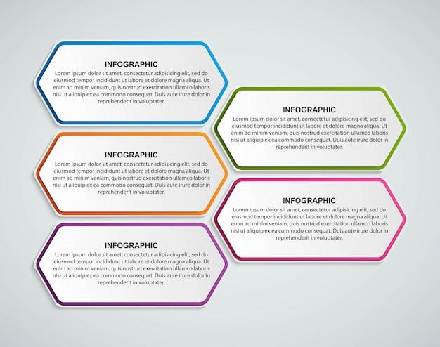 Optionen infografiken vorlage.