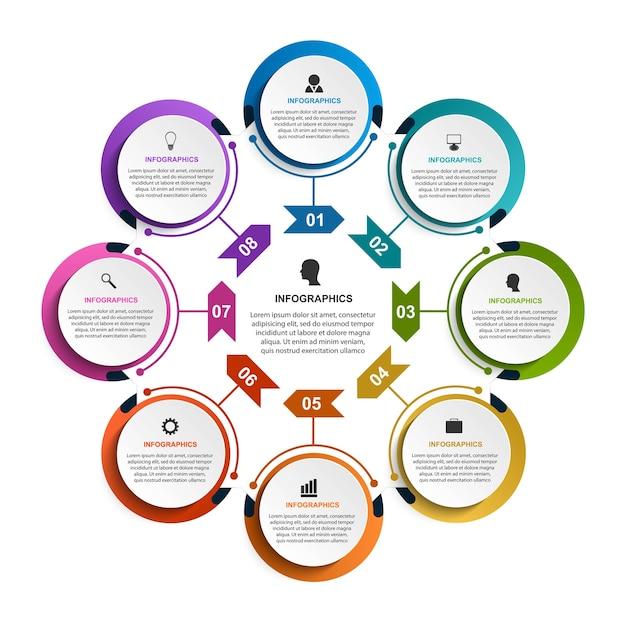 Optionen infografiken vorlage. Premium Vektoren