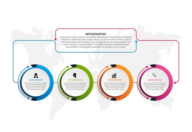 Optionen infografiken vorlage
