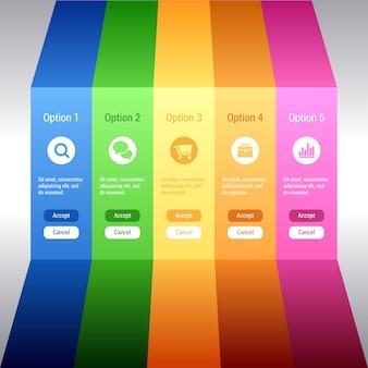 Optionsbanner. minimale infografiken.