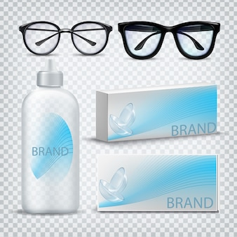 Optische gläser und kontaktlinsen