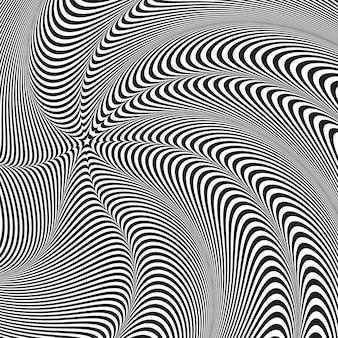 Optische täuschung, abstrakter verdrehter hintergrund