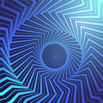 Optische täuschung realistische tapete