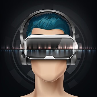 Optisches head-mounted-display oder virtual-reality-brille