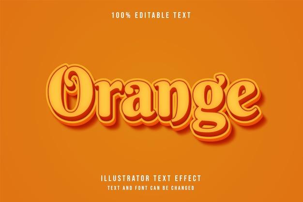 Orange, 3d bearbeitbarer texteffekt gelbe abstufung orange stil