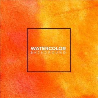 Orange abstrakter aquarellhintergrund, handfarbe. farbspritzer auf dem papier.