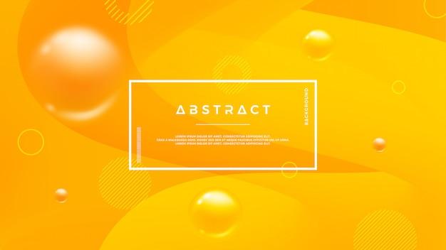 Orange abstrakter hintergrund mit einer dynamischen flüssigen form.