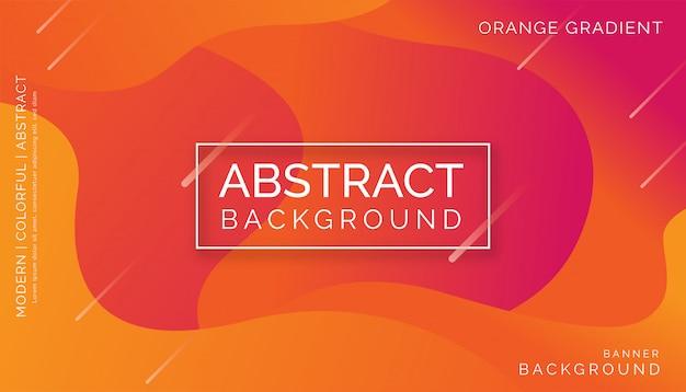 Orange abstrakter hintergrund, modernes buntes dynamisches design
