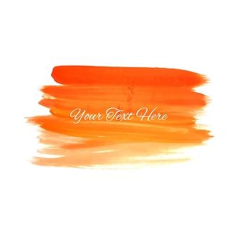 Orange aquarellanschläge auf weißer hintergrundillustration