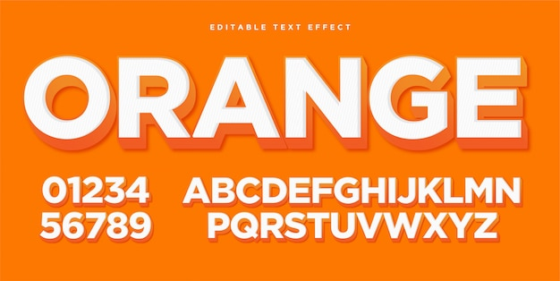 Orange art-effekt des text-3d