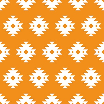 Orange azteken traditionelles nahtloses muster