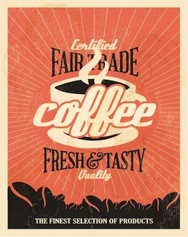 Orange background kaffee ad