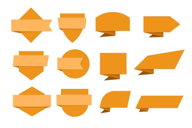 Orange banner sammlung