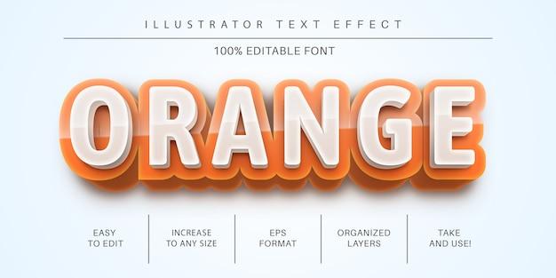 Orange bearbeitbarer texteffekt, schriftstil