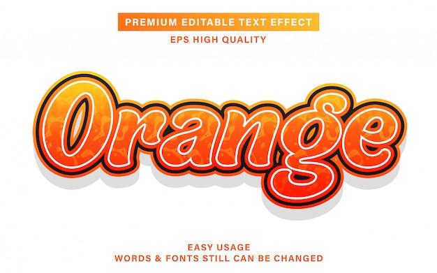 Orange bearbeitbarer texteffekt