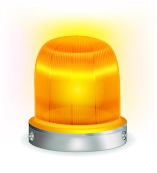 Orange blinkendes licht