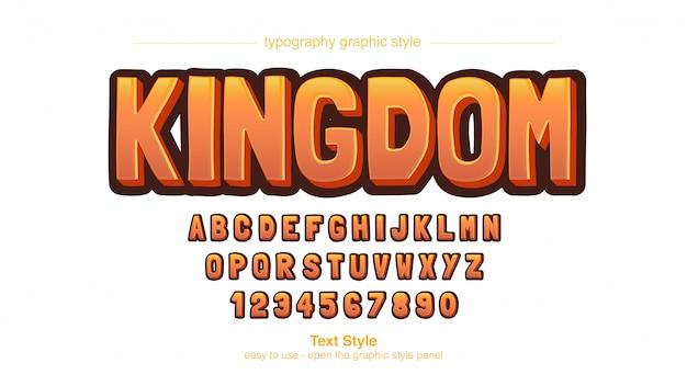 Orange bold cartoon display typografie