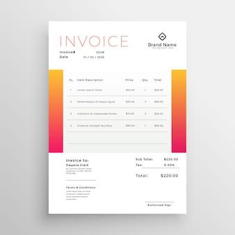 Orange business-rechnung-template-design