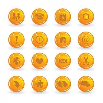 Orange buttons sammlung