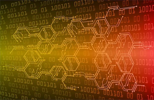 Orange cyber circuit zukunftstechnologie konzept hintergrund