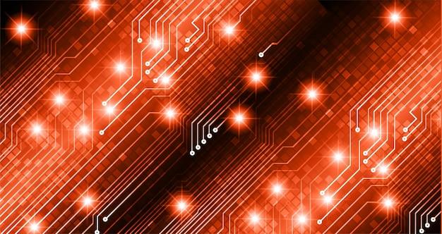 Orange cyber-schaltung zukunftstechnologie-konzept hintergrund
