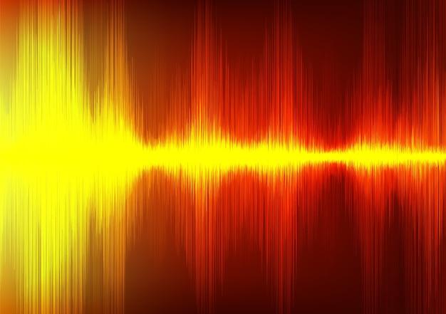 Orange digital sound wave stil hintergrund