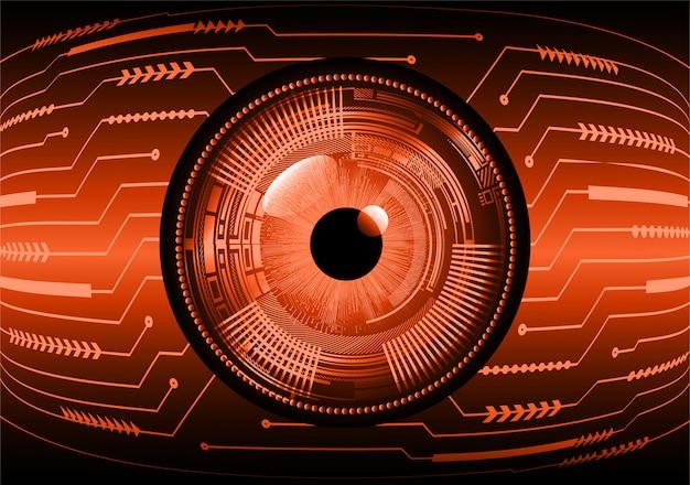 Orange eye cyber circuit zukunft technologie konzept hintergrund