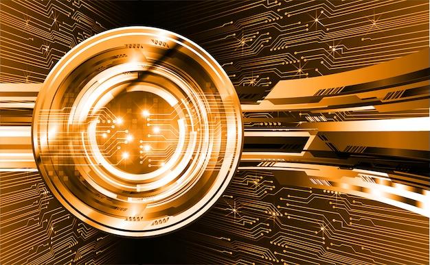 Orange eye cyber circuit zukunftstechnologie hintergrund