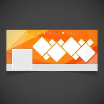 Orange facebook banner-vorlage für fotografen