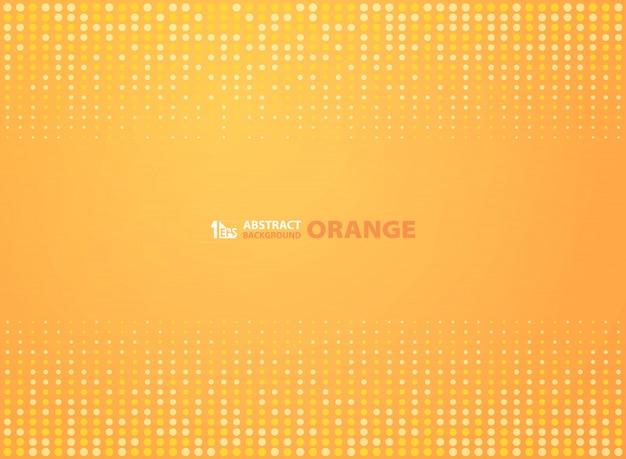 Orange farbe der abstrakten steigung mit kreishalbtonhintergrund.