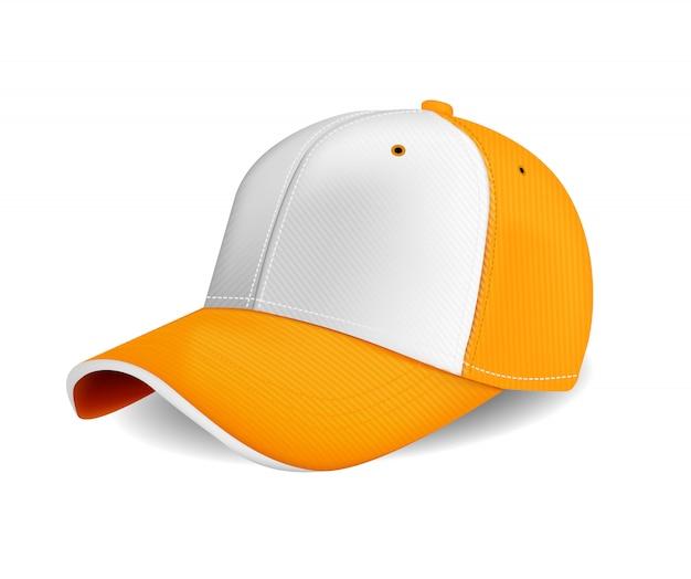 Orange farbe der spitzenkappe für werbung oder druck lokalisiert auf weißem hintergrund