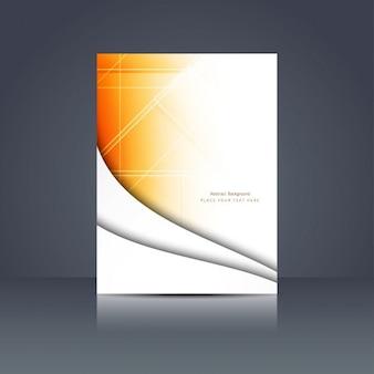 Orange farbe polygonale broschüre design