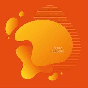 Orange farbenflüssigkeit färbt hintergrund