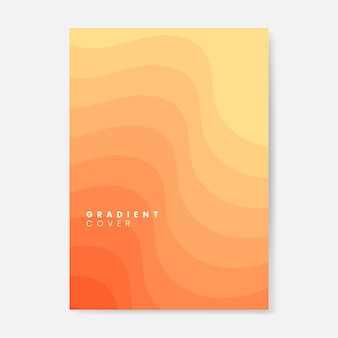 Orange farbverlauf abdeckung grafik-design