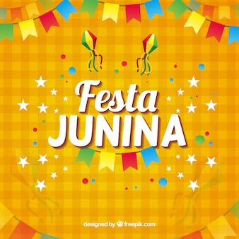 Orange festa Junina Hintergrund