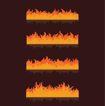 Orange flammen sammlung