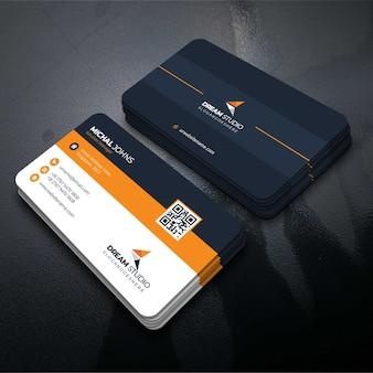 Orange formbesuchkarte