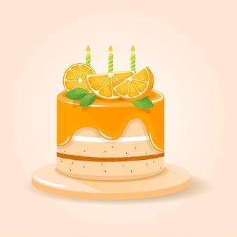Orange frischer kuchen