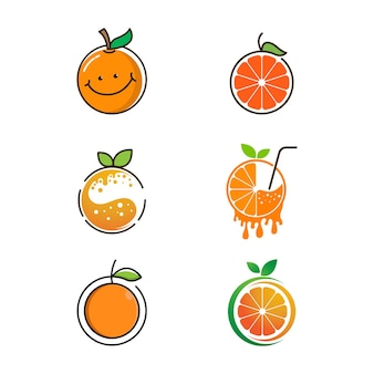 Orange frisches design vektor icon illustration design