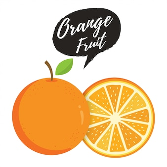 Orange ganzes und orangenscheibe