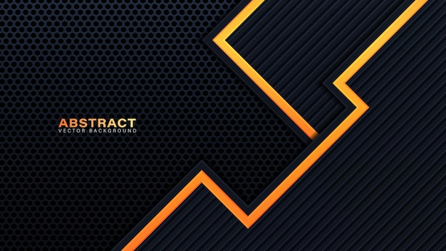 Orange, gelb und schwarz abstrakter geschäftshintergrund. vektordesign.