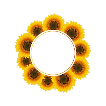 Orange gelber sonnenblume-fahnen-kranz
