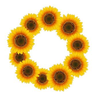 Orange gelber sonnenblumekranz