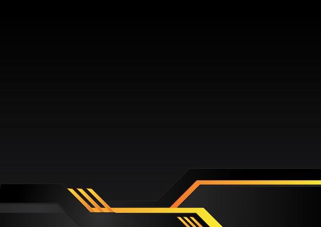 Orange gelber und schwarzer abstrakter geschäftshintergrund. vektordesign.