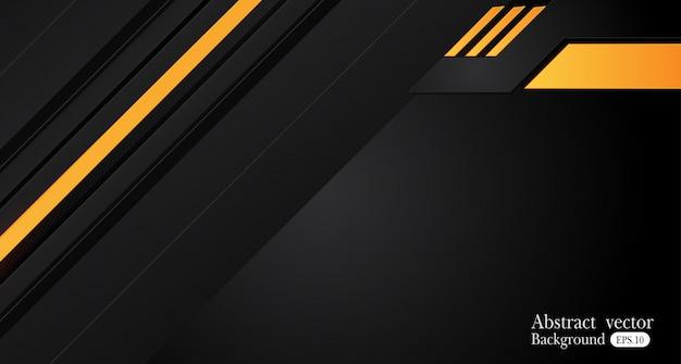Orange gelber und schwarzer abstrakter geschäftshintergrund