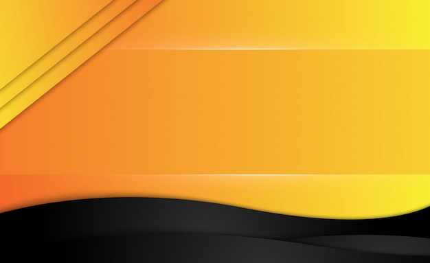 Orange gelber und schwarzer abstrakter geschäftshintergrund.