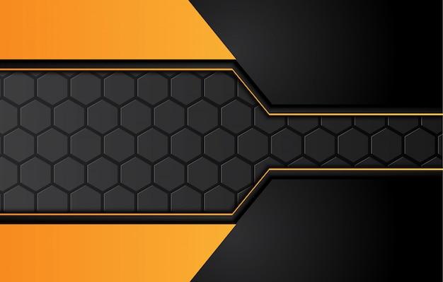 Orange gelber und schwarzer abstrakter geschäftshintergrund. .
