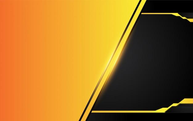 Orange gelber und schwarzer abstrakter hintergrund.