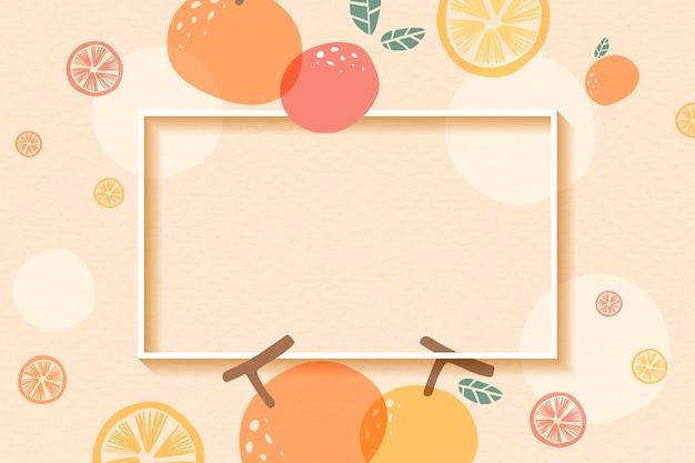 Orange gemusterter rahmen
