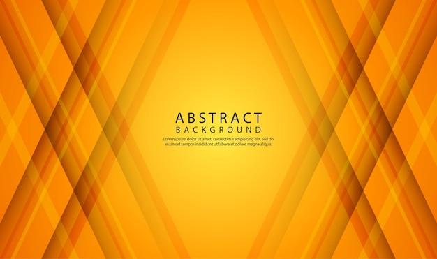Orange geometrische abstrakte hintergrundüberlappungsschicht mit 3d-diagonalformen dekoration